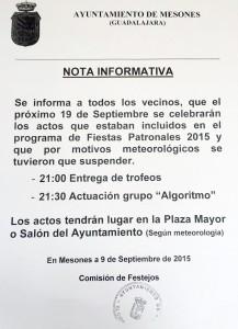 nota informativa FIESTAS MESONES