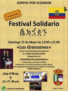 cartel festival solidario Ecuador.